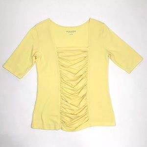 Soft Surroundings Top Women Small Yellow Shirt